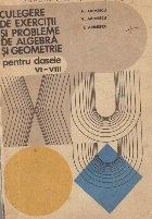 Culegere exercitii probleme algebra geometrie