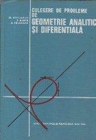 Culegere geometrie analitica diferentiala