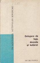 Culegere de Legi, Decrete, Hotariri, Volumul 9