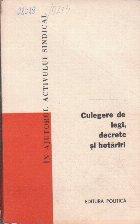 Culegere de Legi, Decrete si Hotariri, Volumul 17