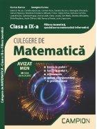 Culegere matematica Filiera teoretica specializarea