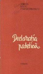 Declaratia patetica - Poeme 1935-1948