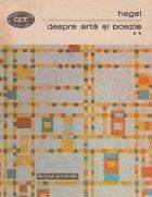 Despre arta si poezie, Volumul al II-lea