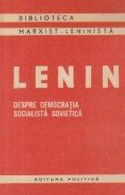 Despre democratia socialista sovietica