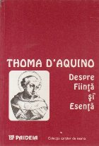 Despre Fiinta si Esenta (editie bilingva latina-romana)