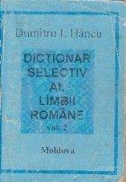 Dictionar selectiv al limbii romane, Volumul al II-lea