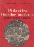 Didactica limbilor moderne (Metodologia cercetarii experimentale)