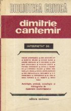 Dimitrie Cantemir interpretat de...