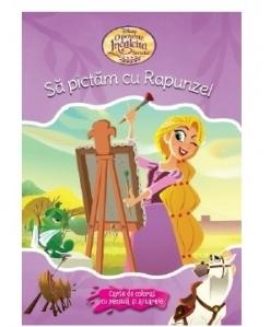 Disney. O poveste incalcita. Sa pictam cu Rapunzel. Carte de colorat cu pensula si acuarele