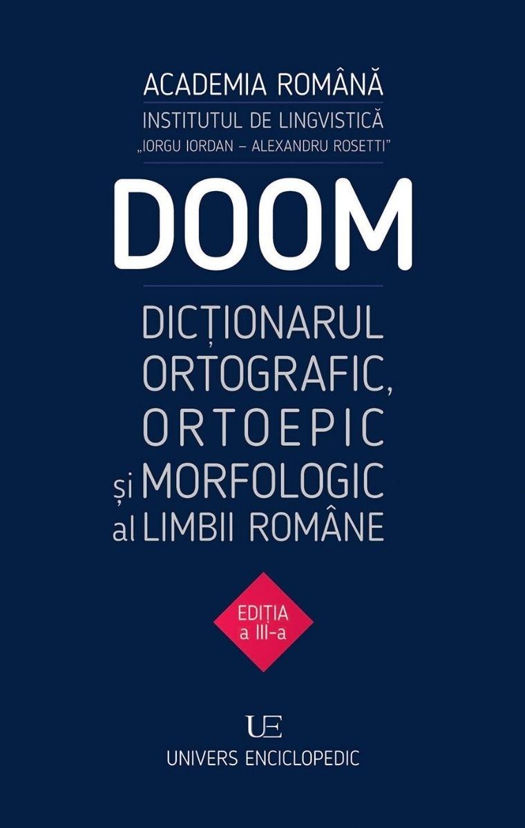 DOOM - Dicţionarul Ortografic, Ortoepic şi Morfologic al limbii române