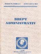 Drept Administrativ. Lucrarea are in vedere legislatia in vigoare la 1 septembrie 2001
