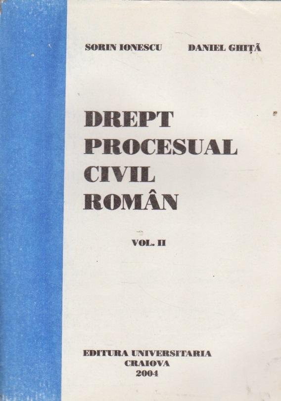 Drept procesual civil roman, Volumul al II-lea