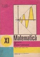 Elemente de analiza matematica. Manual pentru clasa a XI-a