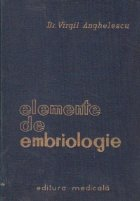 Elemente de de embriologie