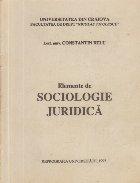 Elemente de sociologie juridica