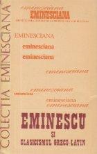 Eminescu clasicismul greco latin Studii