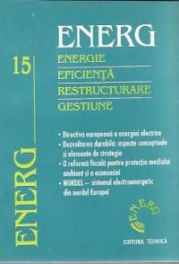 ENERG - Energie. Eficienta. Restructurare. Gestiune, Volumul al XV-lea