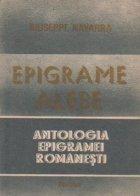 Epigrame alese - Antologia epigramei romanesti