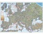 Europa - Harta fizica si rutiera  (hartie laminata) 140x100