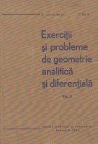 Exercitii si probleme de geometrie analitica si diferentiala, Volumul al II-lea
