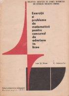 Exercitii si probleme de matematica pentru concursul de admitere in licee (Editie 1971)