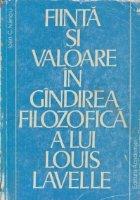 Fiinta si valoare in gindirea filozofica a lui Louis Lavelle