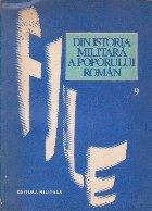 File din Istoria Militara a Poporului Roman, Studii - Volumul al IX-lea
