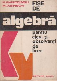 Fise de algebra pentru elevi si absolventi de licee