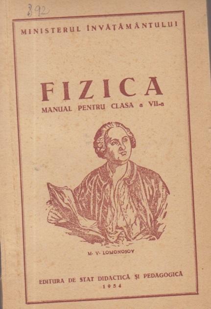 Fizica - Manual pentru clasa a VII-a (Editie 1954)