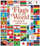Flags of the world colouring and sticker book
