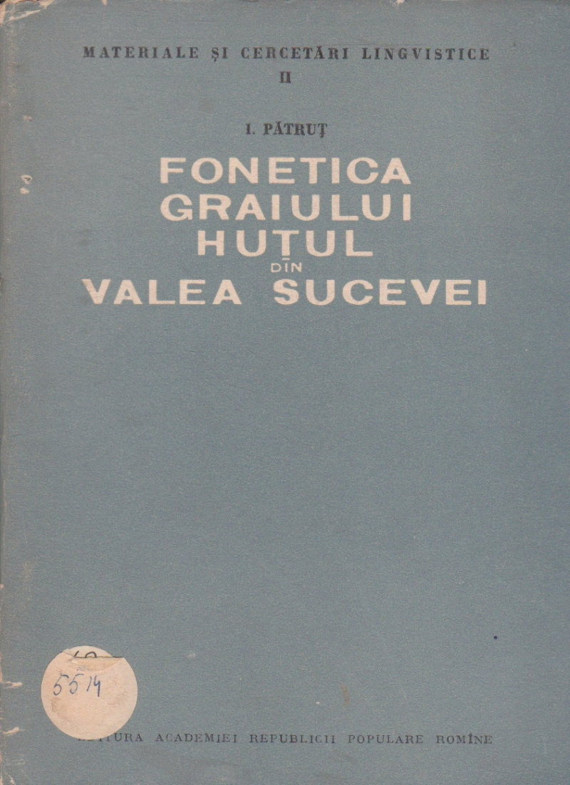 Fonetica graiului Hutul di Valea Sucevei