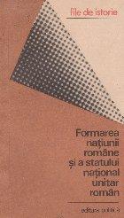 Formarea natiunii romane statului national