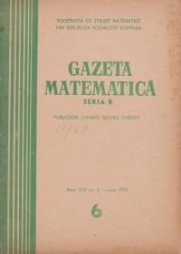 Gazeta matematica, 6/1970