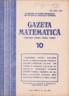 Gazeta matematica, 10/1981