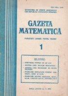 Gazeta matematica 1/1981