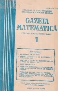 Gazeta Matematica, Ianuarie 1988