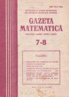 Gazeta Matematica, Iulie-August 1987