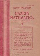 Gazeta Matematica Iulie 1989