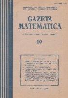 Gazeta matematica Octombrie 1988