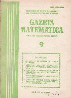 Gazeta matematica,  Septembrie 1986
