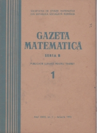 Gazeta Matematica, Seria B, Ianuarie 1972