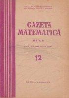 Gazeta Matematica Seria Decembrie 1971