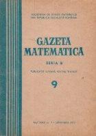 Gazeta Matematica, Seria B, Septembrie 1972