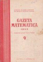 Gazeta Matematica Seria Septembrie 1973