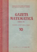 Gazeta matematica, Seria B, Octombrie 1973