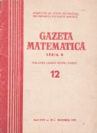Gazeta Matematica, Seria B, Decembrie 1973