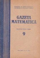 Gazeta Matematica Seria Septembrie 1974