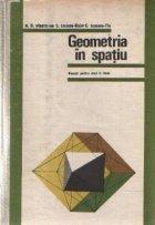 Geometria in spatiu - Manual pentru anul II licee