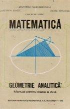 Geometrie analitica - Manual pentru clasa a XI-a