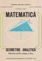 Geometrie analitica. Manual pentru clasa a XI-a